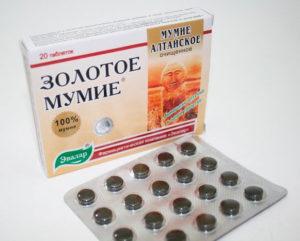 Мумие при диабете в таблетках